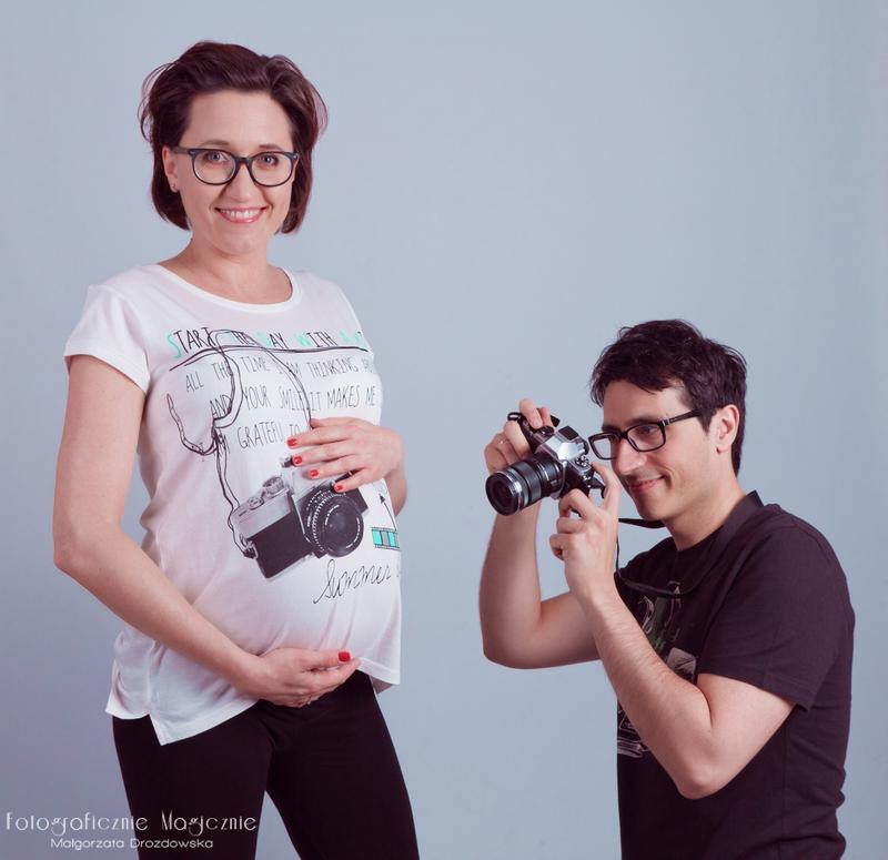 sesja fotograficzna ciążowa w studio